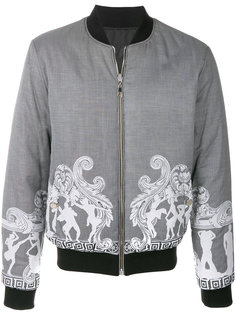 куртка-бомбер  с полосатым узором Versace Collection