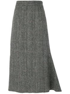 юбка со структурированным подолом Maison Margiela