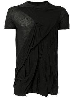 футболка с эффектом помятости Rick Owens DRKSHDW