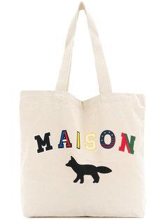 сумка-тоут с принтом логотипа Maison Kitsuné