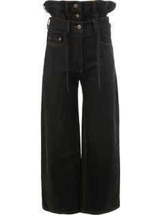 джинсы с завышенной талией и оборками  Y / Project