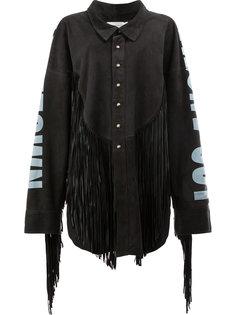 рубашка из овечьей шерсти с бахромой Faith Connexion