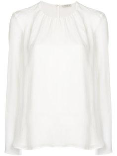 крепдешиновая блузка со сборками Etro