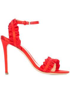 ruffle detail stiletto sandals Monique Lhuillier