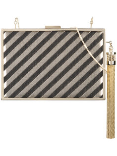tassel detail striped minaudière Monique Lhuillier