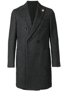 двубортное пальто строгого кроя Lardini