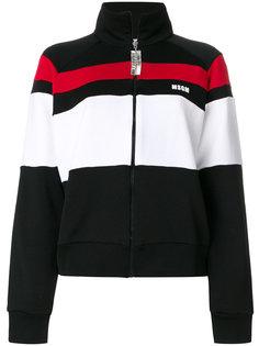 куртка на молнии со стразами  MSGM
