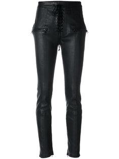 брюки скинни с талией-корсетом Unravel Project
