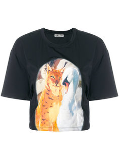 панельная футболка с принтом животных Aalto