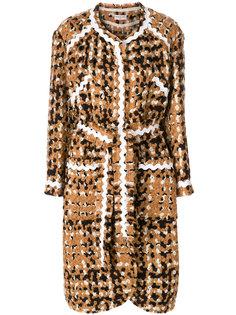 длинное твидовое пальто  Veronique Leroy