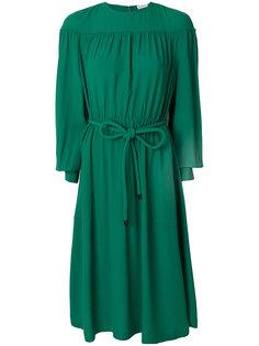 присборенное платье миди  Veronique Leroy