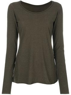 boat neck long sleeve T-shirt Rundholz Black Label