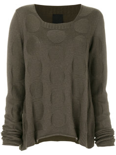 curved hem dot pattern sweater Rundholz Black Label