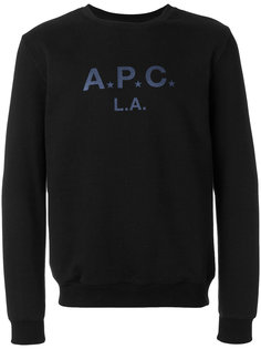 толстовка с принтом логотипа A.P.C.