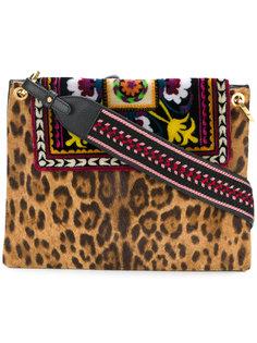сумка на плечо с леопардовым и ацтекским принтом Etro