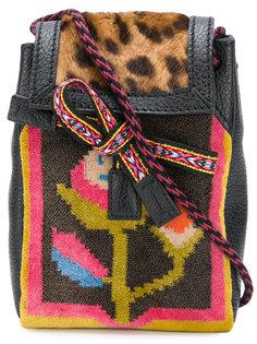 мини-сумка с принтом ацтеков и леопардовым принтом Etro