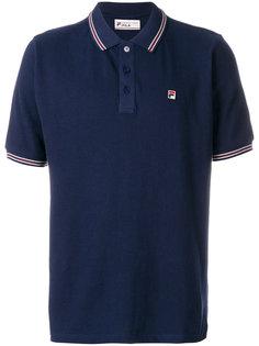 футболка-поло с полосатой окантовкой Fila