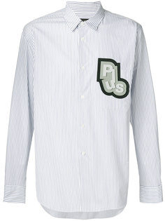 полосатая рубашка с нашивкой Comme Des Garçons Homme Plus