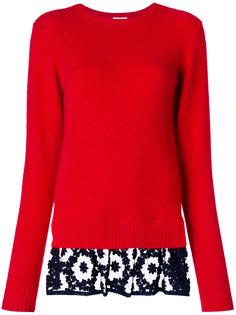 свитер с контрастной отделкой  Comme Des Garçons Noir Kei Ninomiya