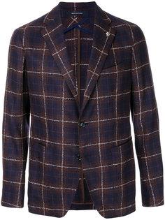 клетчатый приталенный пиджак Tagliatore