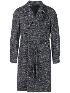 тканое пальто с поясом Tagliatore