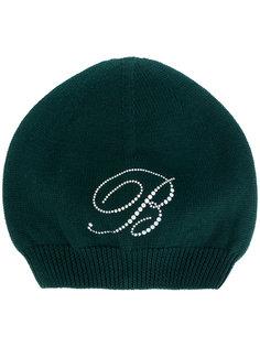 трикотажная шапка с логотипом Blumarine