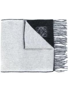двухцветный шарф с бахромой Loewe