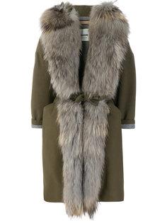 belted fur coat Ava Adore