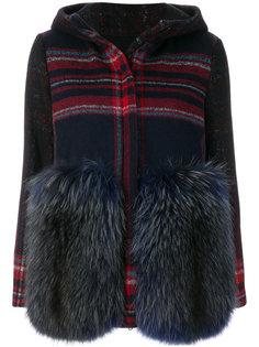 hooded checked jacket Ava Adore