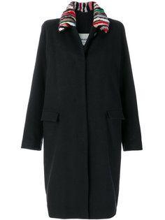 single breasted belted coat Ava Adore