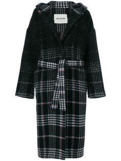 faded checked coat Ava Adore
