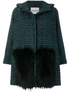checked coat Ava Adore