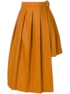 плиссированная юбка с асимметричным подолом Marios