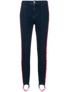 эластичные джинсы со штрипками  MSGM