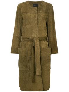пальто с накладными карманами Theory