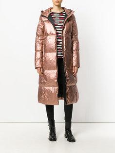 длинное дутое пальто  Ecoalf