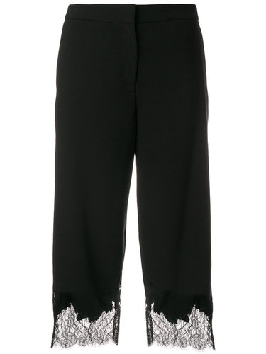 укороченные брюки с кружевной отделкой  Michael Michael Kors