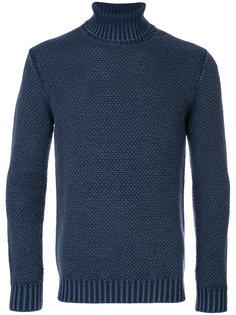 свитер вафельной вязки Lardini
