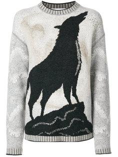 wolf-intarsia sweater Giada Benincasa