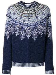 feather-intarsia sweater Giada Benincasa