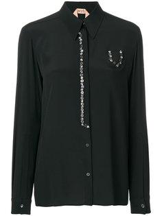 рубашка с перламутровыми пуговицами  Nº21