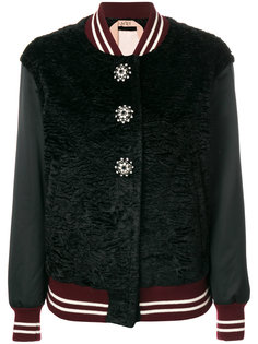 куртка-бомбер со стразами на пуговицах  Nº21