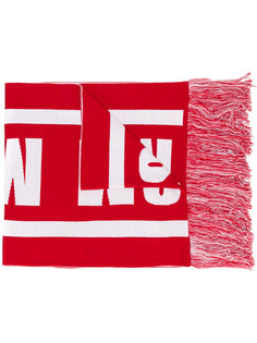 шарф с логотипом вязки интарсия MSGM