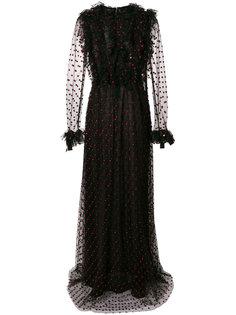 платье в пол из тюля с рюшами Giambattista Valli