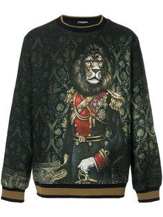свитер с принтом льва-короля Dolce & Gabbana