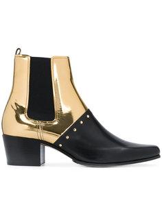 ботинки челси с контрастным дизайном Balmain