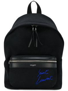 мини-рюкзак с вышивкой City Saint Laurent