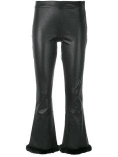укороченные брюки с искусственным мехом Simonetta Ravizza