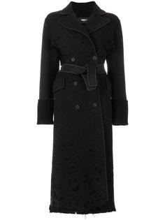 двубортное пальто с поясом  Yang Li