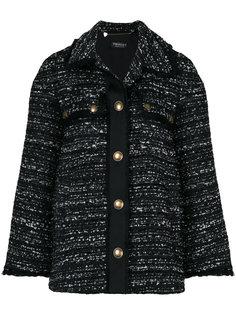 удлиненный твидовый пиджак Twin-Set